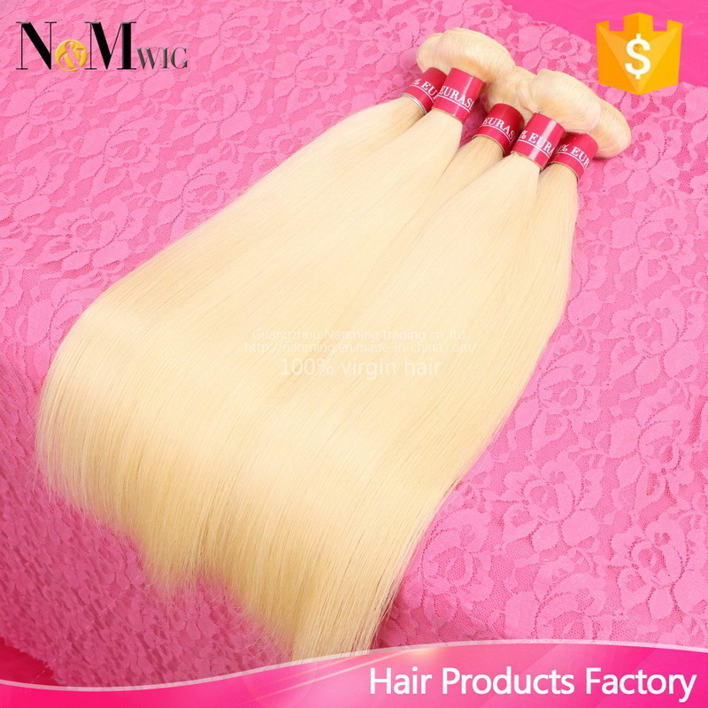 European Russian Blonde Human Hair / Keratin Straight Russian Hair
