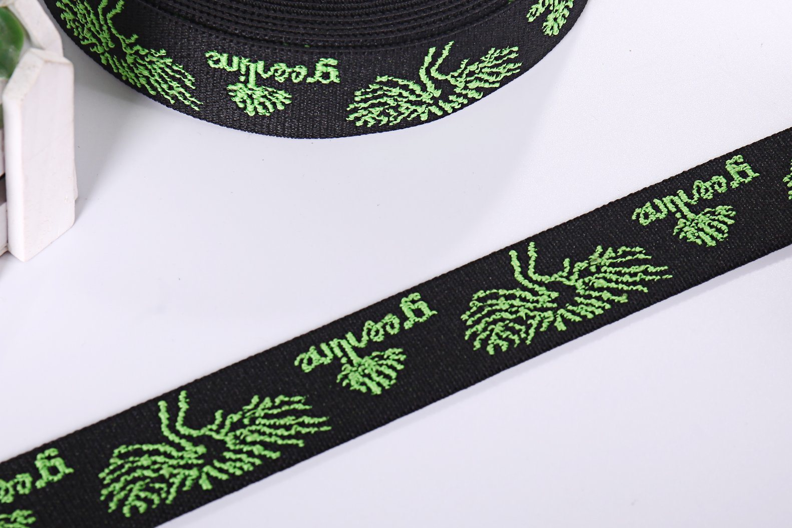 Nylon Customize Knitting Elastic Band Jacquard Webbing for Handbag