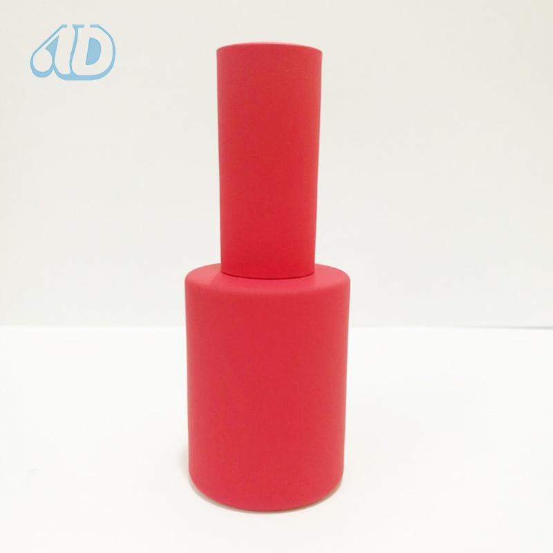 Colorful Pet Glass Nail Polish Bottle Rubber Paint