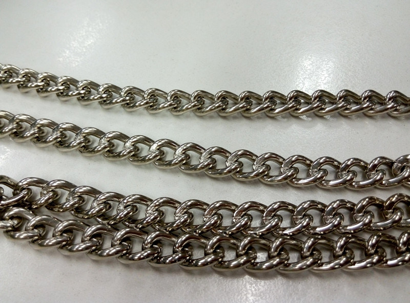 Nickel Plated Steel Twisted Link Chain