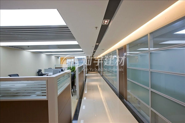 Modern Office Partition Tempering Glass Partition Wall for Customized Size