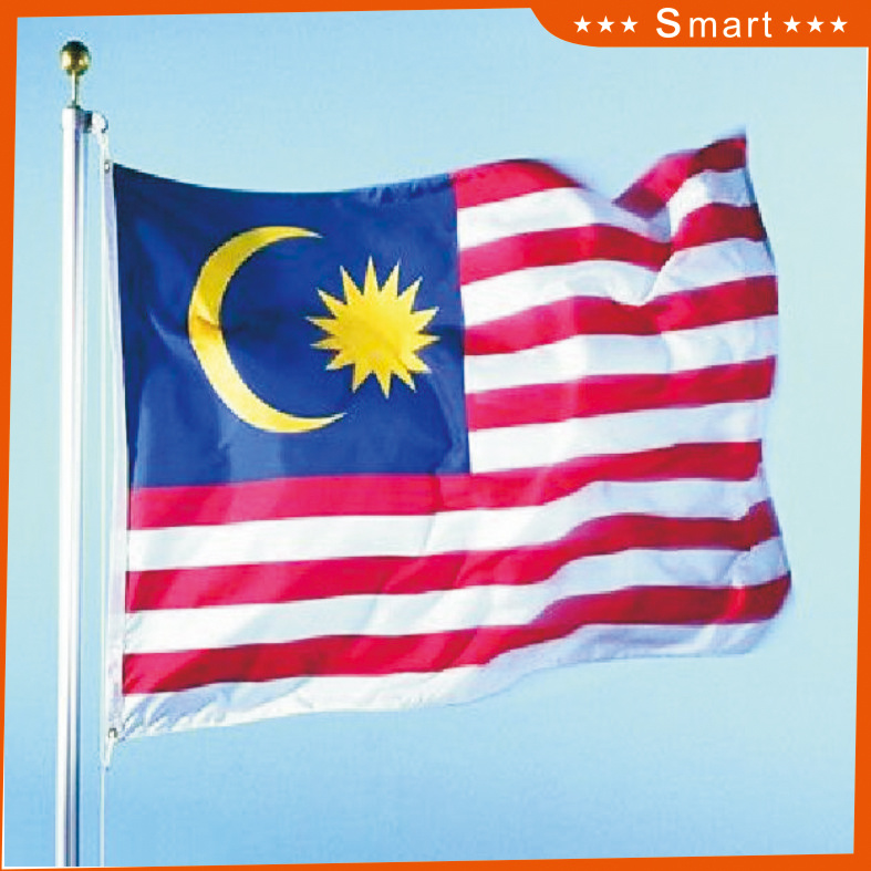 Custom Waterproof and Sunproof National Flag Malaysia National Flag