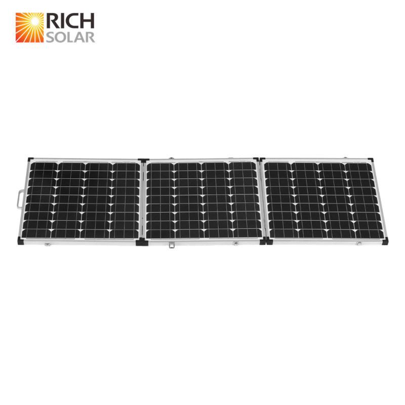 180W 12V Mono Photovoltaic Tri-Foldable Solar Panel for Home Use