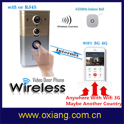 High Quality Wireless WiFi Doorbell with Ring and Control Cammera by APP Wd8