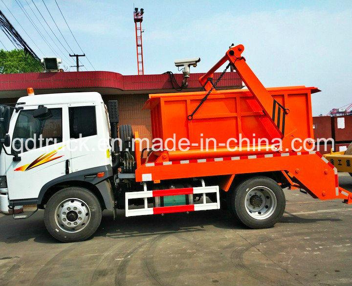 6000L swinging arm garbage truck roll sanitation vehicle