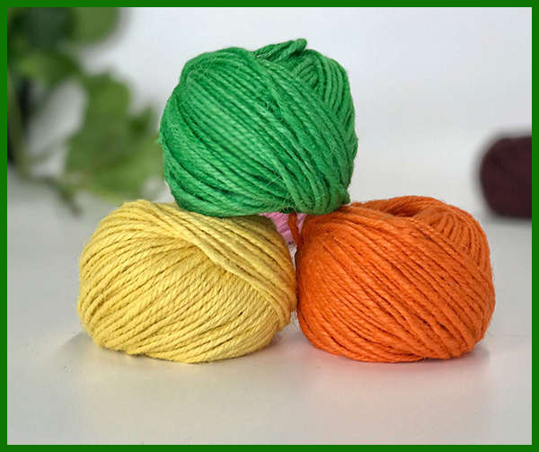 3ply Dyed Jute Fiber Yarn (green)