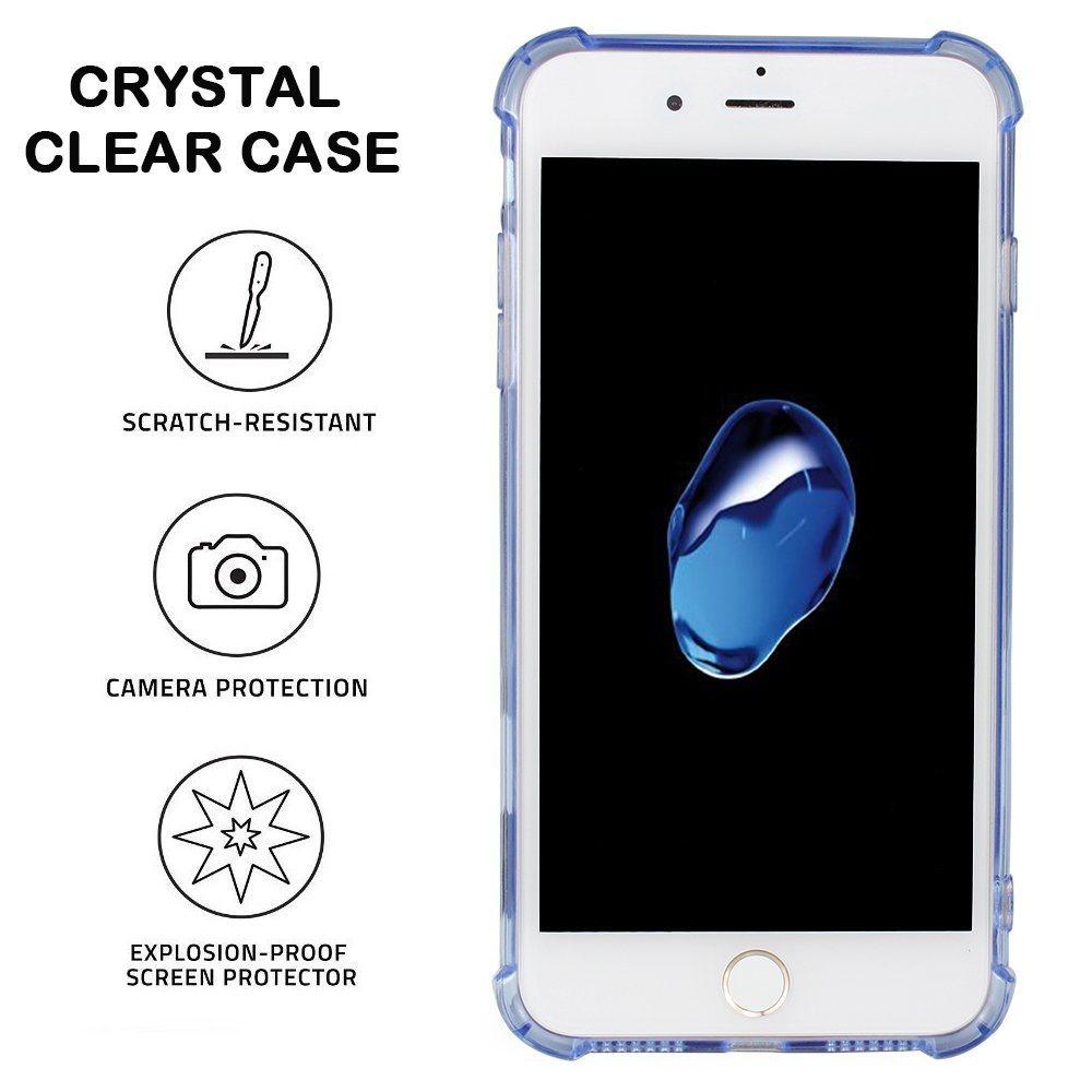 Anti-Scratch Non-Slip Ultra-Slim Flexible Bumper Soft TPU Transparent Clear Cover for iPhone 7