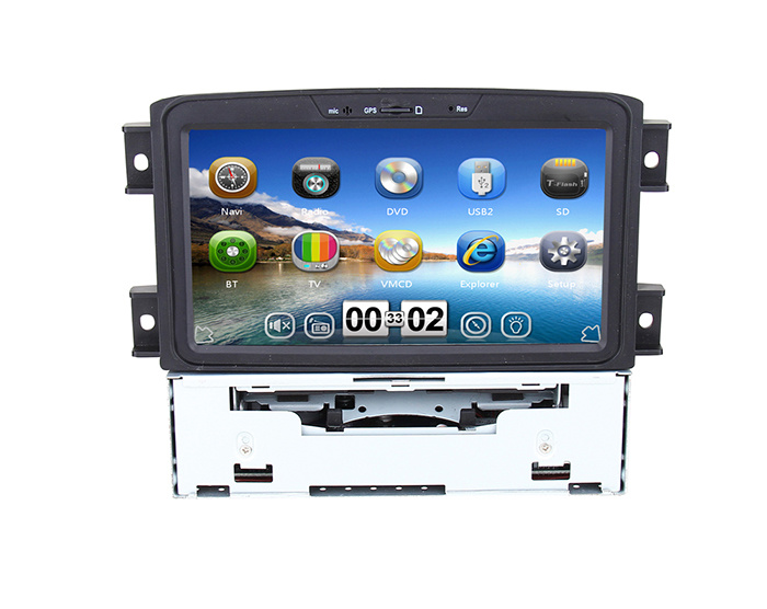 Wince 6.0 Quad Core 2 DIN Car GPS with Bt for iPod 3G Vmcd FM TPMS for Lifan 720