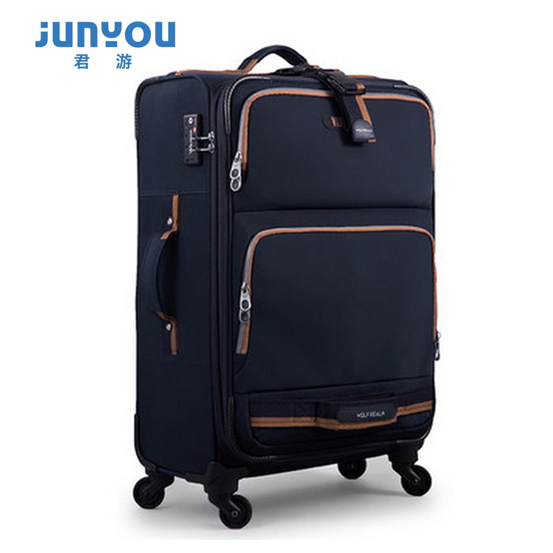 Hot Sale Fashion 4 Wheels 20 24 Inch Nylon Soft Luggage