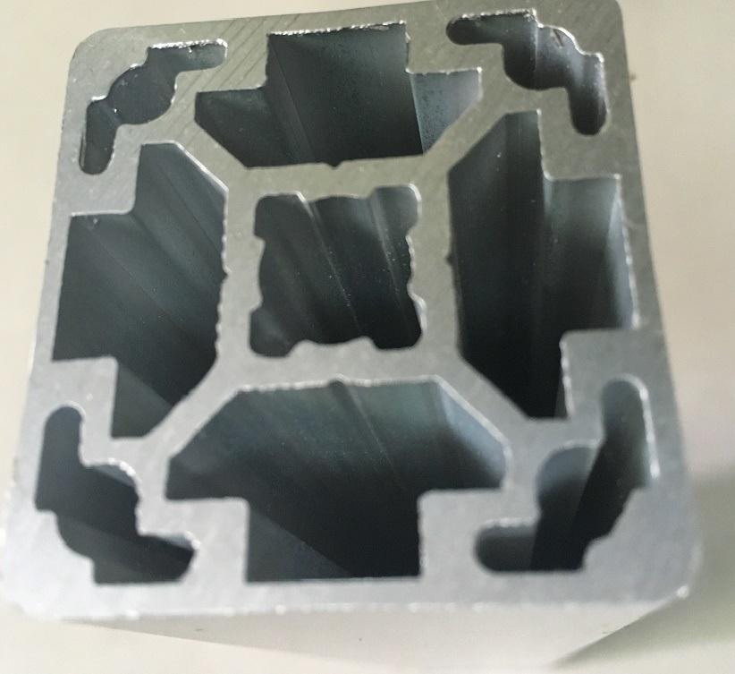 Silver Matt Anodized Aluminium Industrial Profile