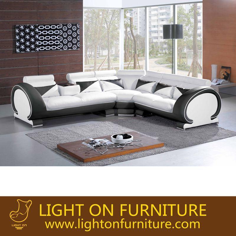 L Shape Leather Sofa (L031)