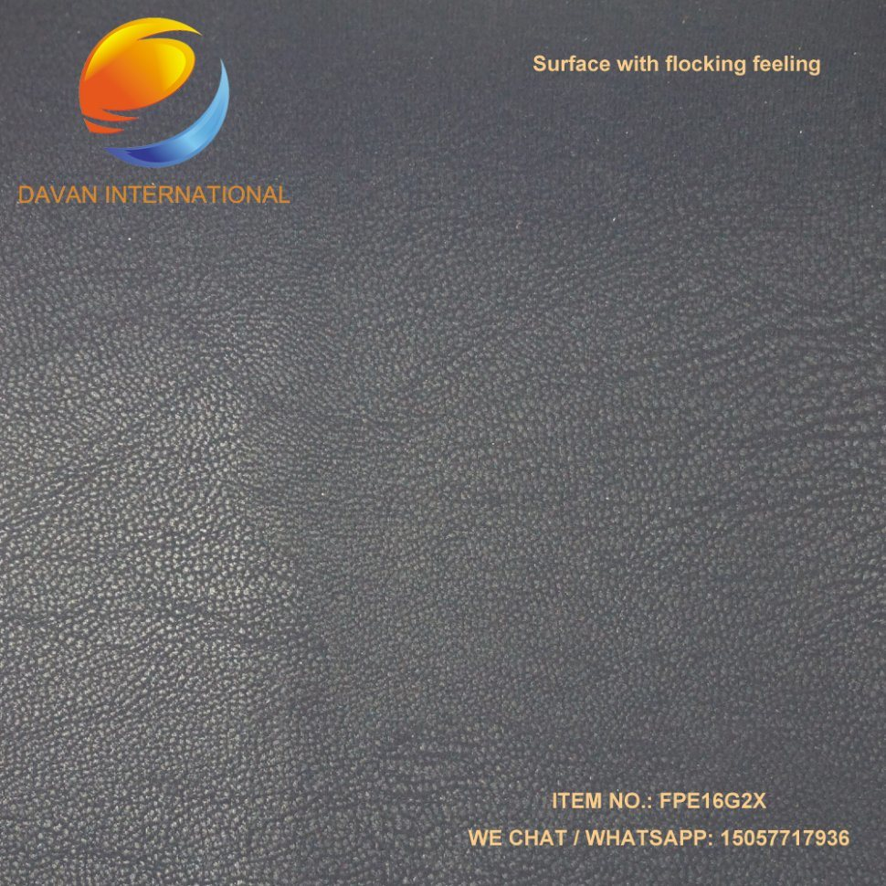 PU Coated Fabric Silky Flocking Surface Hand Hand Feeling