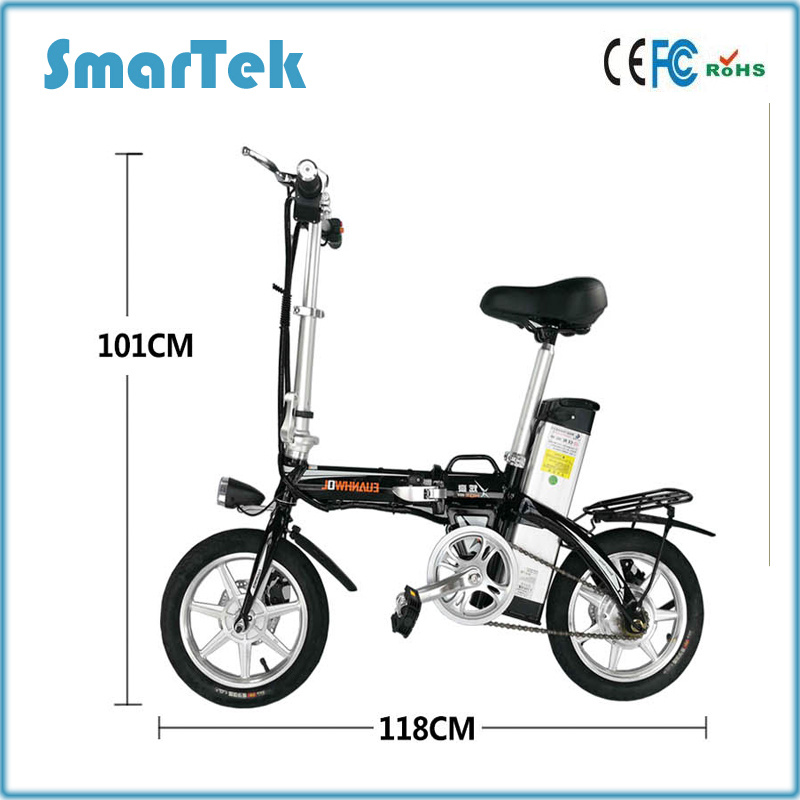 Smartek Hot Sale~Smartek Mini Electric Patinete Electrico Bicycle- Safe Climbing Capacity 14 Inch-30km/H S-020-6