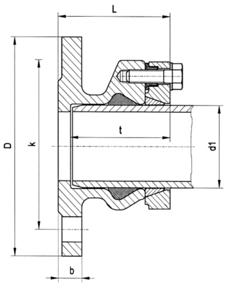 Flange Adaptors for HD-PE Pipes