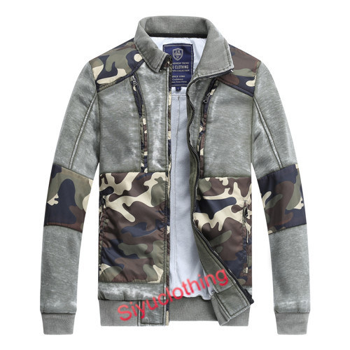 Mens Fashion Outdoor Casual Camouflage Design 100%Cotton Jacket (J-1620)