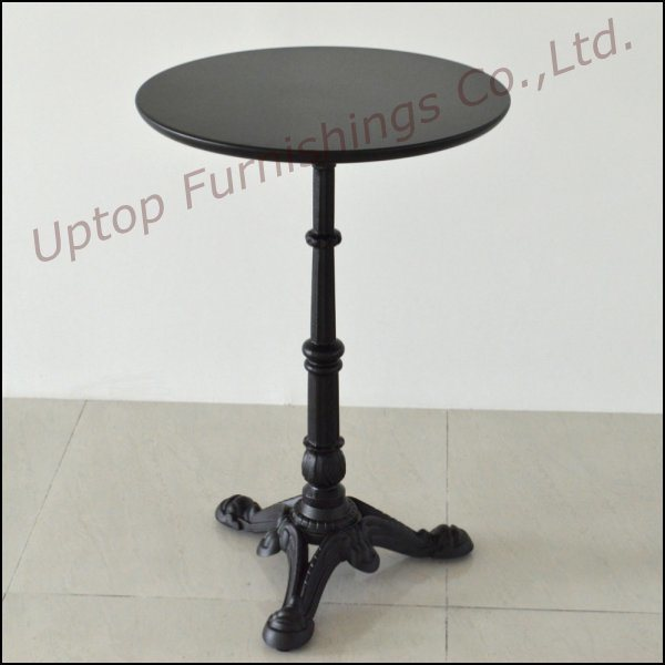Antique Style Black Cast Iron Cafe Table (SP-RT104)