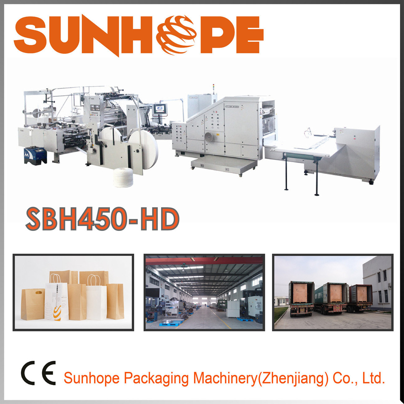 Sbh450-HD Paper Shopping Bag Making Machinery