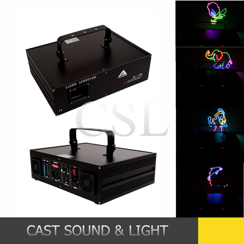 1500MW Stage RGB Animation Laser Disco DJ Lighting