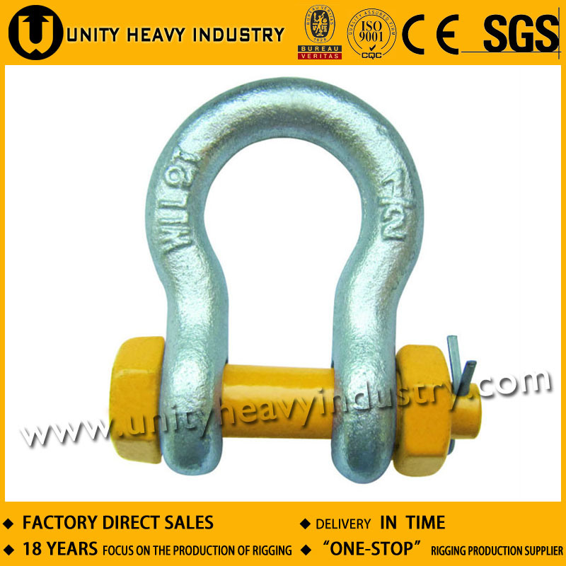 G 2130 U. S Type Bolt Safety Drop Forged Anchor Shackle
