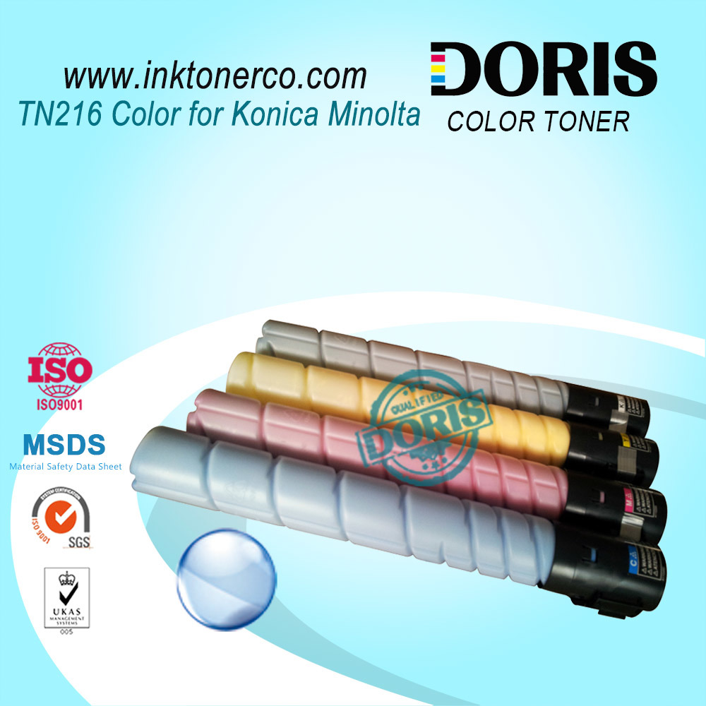Color Toner Powder Tn216 Copier for Konica Minolta Bizhub C220 C280 C360 Copier Parts