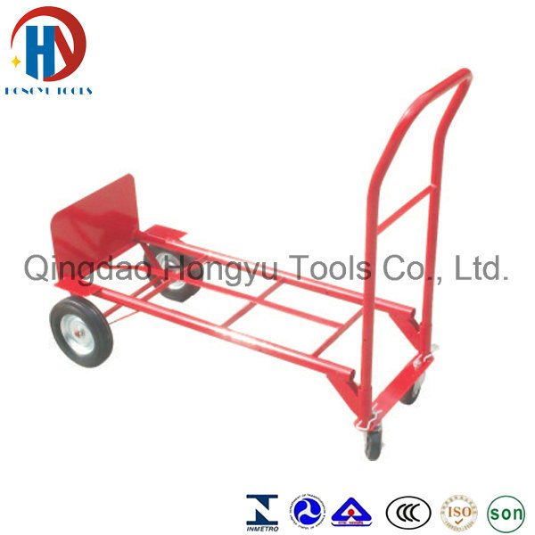 Four Wheel Heavy Duty Red Hand Trolley (HT1505)
