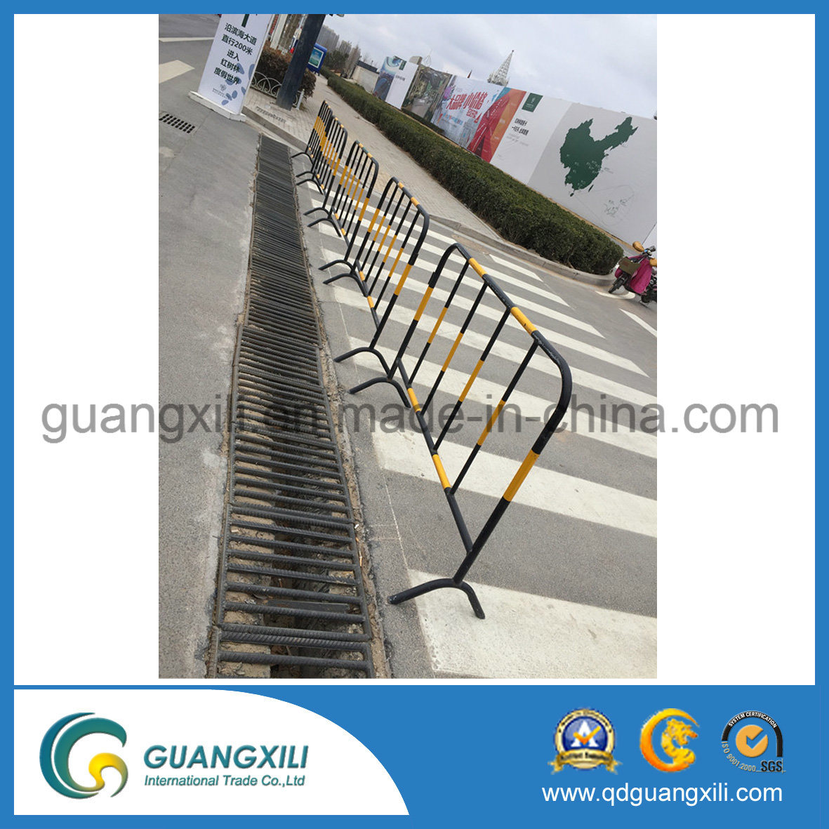 Customized Coated Crowd Control Road Barrier for Warning