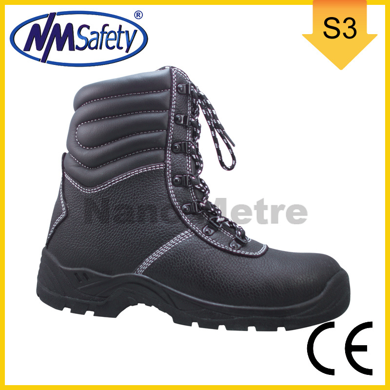 Nmsafety CE Approved Men Leather High Safety Work Boots