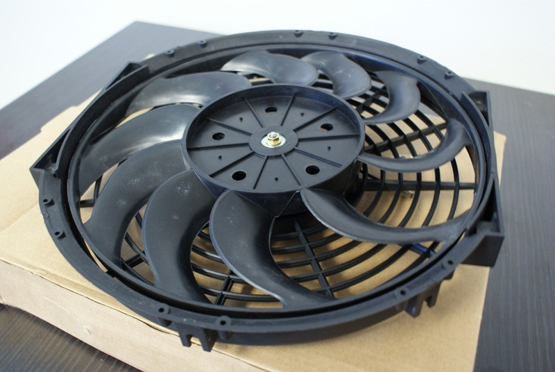 custom civic rad kits 12-Auto-Electrical-Slim-Fan-With-Curved-Blade-Fans
