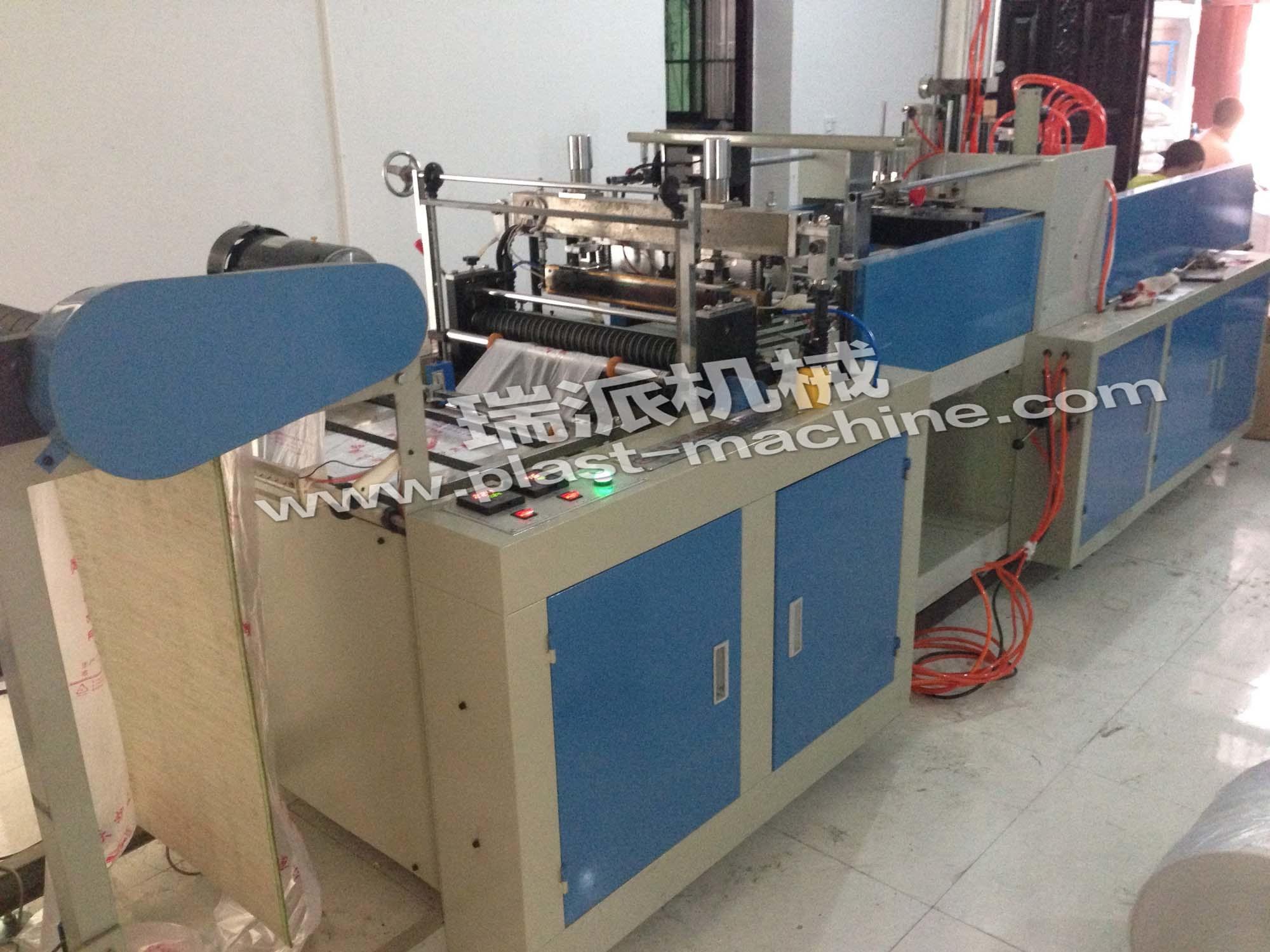 One Line Hot Sealing Hot Cutting Plastic Bag Making Machine