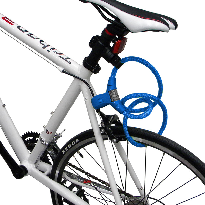 Digital Code Combination Cable Lock for Bike with LED