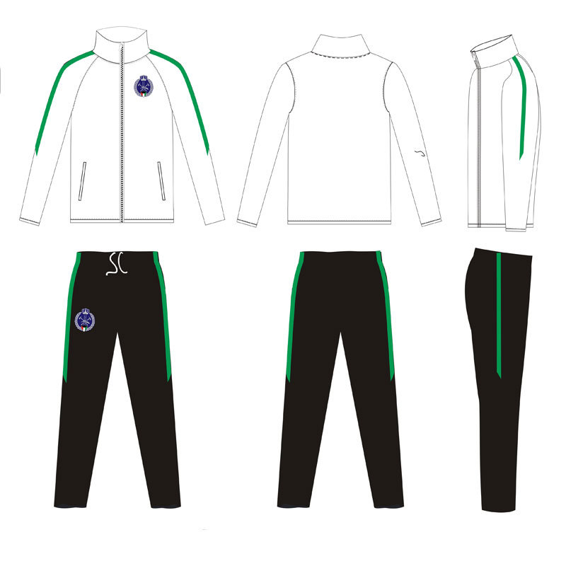 Solid Colors Dye Sublimated Tracksuit Ambroidered Logo for Soccer Clubs