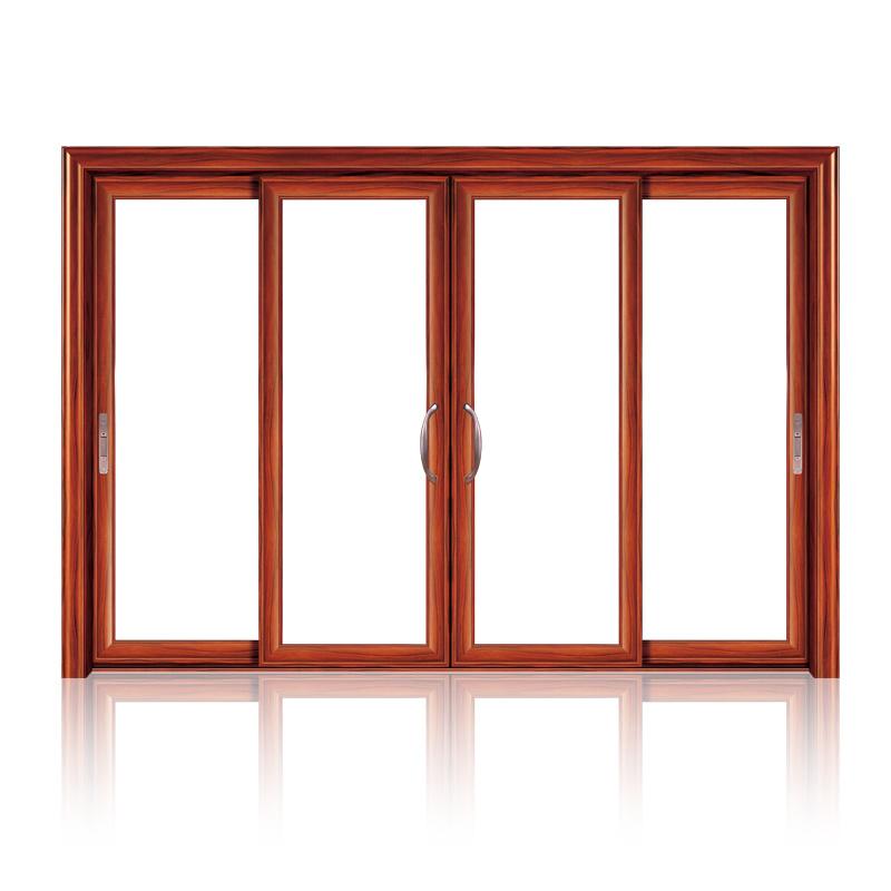 Feelingtop Interior or Exterior Aluminum Tempered Glass Sliding Door