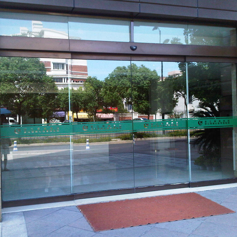 Low Noise Automatic Door, Stainless Steel Frame Sliding Glass Door