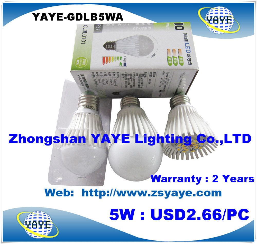 Yaye Best Price High Quality E27 LED Bulb 6W / CE/RoHS E27 LED Bulb 6W