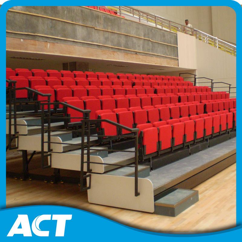 Indoor Space Saving Retractable Tribune Seats for Sale, Telescopic Bleacher System