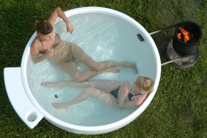 Hot Tub Heater Bath BBQ Outdoor Hot Tub SPA Dutch Tubs