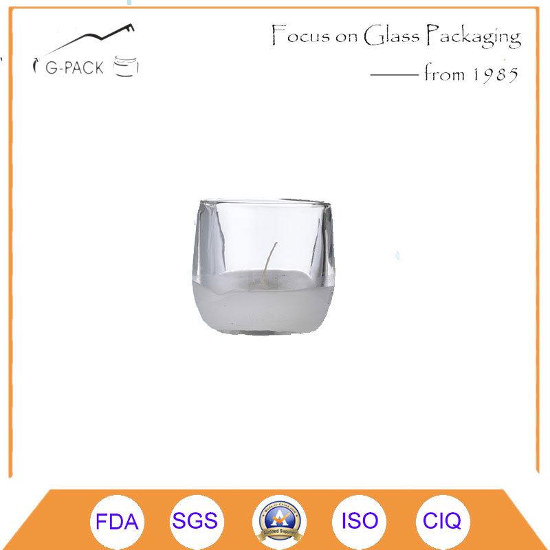 Super Flint Short Glass Candle Holder