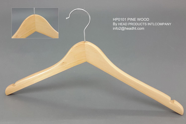 Lipu Made Wooden Regular Clothes Coat Hanger