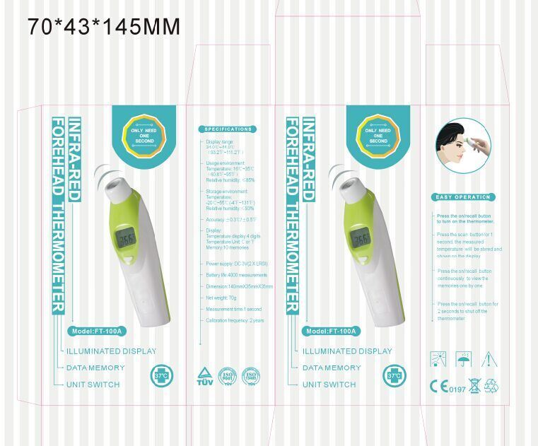 Infrared Forehead Digital Thermometer (FT-100A)