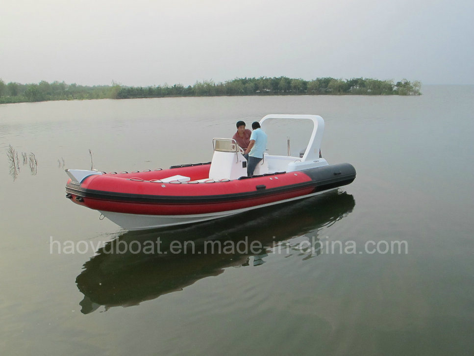 CE Certified 6.8m Inflatable Rib Boat, Rescure Boat, Fishing Boat, Dive Boat, PVC and Hypalon Boat Rib680 for Sale
