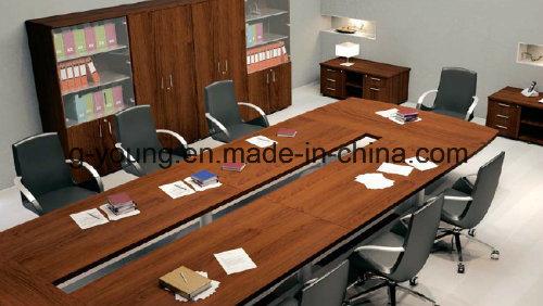 Modern Metal Frame Wood Table Meeting Desk Office Furniture