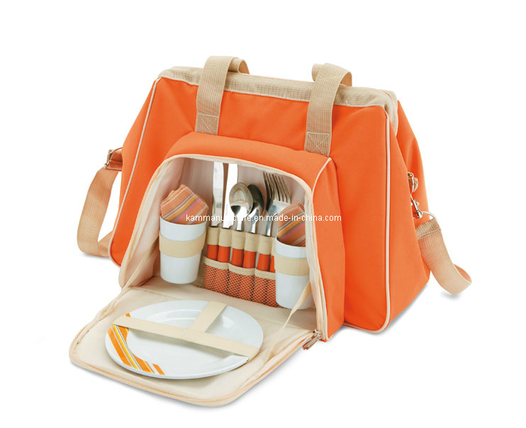 Advertising Picnic Cooler Bag with Dinner Ware (KM4323)