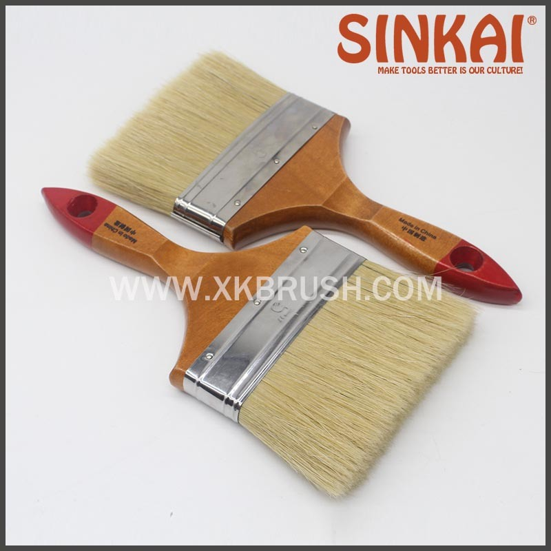 Natural Bristle Flat Brush Bangladesh Paint Brush