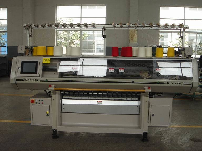 Flying Tiger Computerized Fully Fashion Flat Knitting Machine SMC 512SC  Computerized Knitting Machine