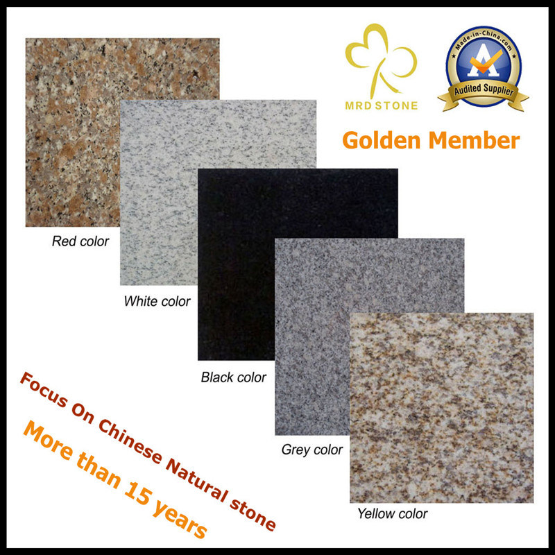 Red/White/Black/Grey Granite for Countertop or Tiles