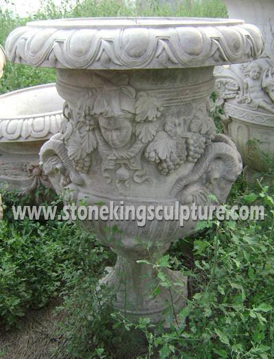 Stone Flowerpot & Vase, Marble Flowerpot & Vase, Marble Carving