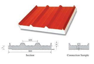 panneau sandwich pour le mur et la toiture alf 052 panneau sandwich pour le mur et la. Black Bedroom Furniture Sets. Home Design Ideas
