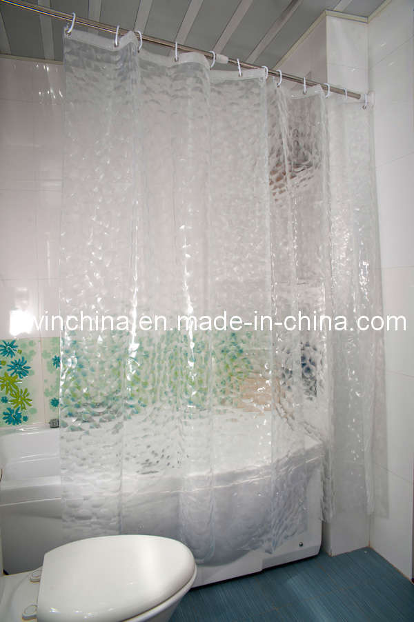 Commercial shower curtain