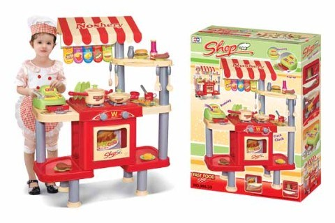 Child Toy, Kid Toy - B/O Kitchen Set With Lights & Sound (H0535129