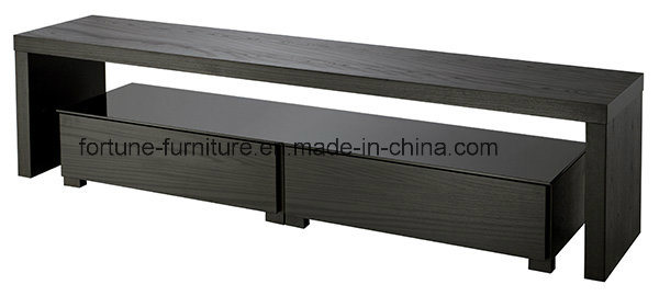 Wooden TV Stand with Tempered Glass Top (N20180D)